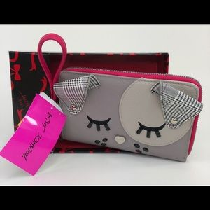 Betsey Johnson Dog Face Ear Wallet Purse Clutch